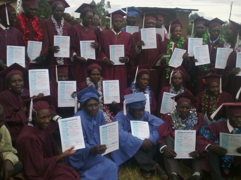 Graduating of 28 Pastors from Biribiriet Churc Kitale Kenya