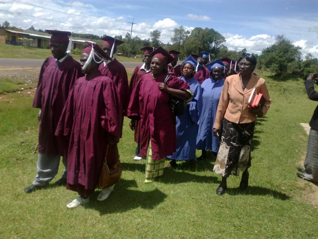 Counseling Course Graduation Photos at Biribiriet Trans-Nzoia East Kenya